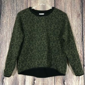 Lou and Grey Green Fleur Jacquard Sweatshirt
